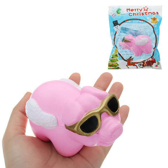 Glasses Piggy Squishy 18CM Slow Rising With Packaging Collection Gift Soft Toy