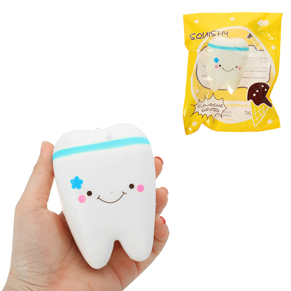 Cute Teeth Squishy 10.5*7CM kawaii Squeeze Slow Rising Original Packing Kid Toy