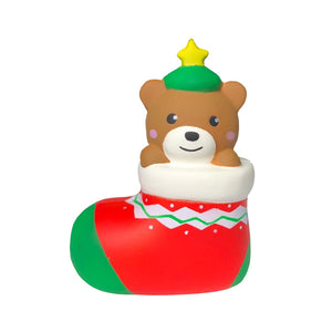 Christmas Gift Squishy Footwear Bear 13.5CM Cute Decoration Collection With Packaging