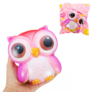 Galaxy Owl Squishy 12.5*12*7cm Sweet Soft Slow Rising Collection Gift Decor Toy Original Packaging
