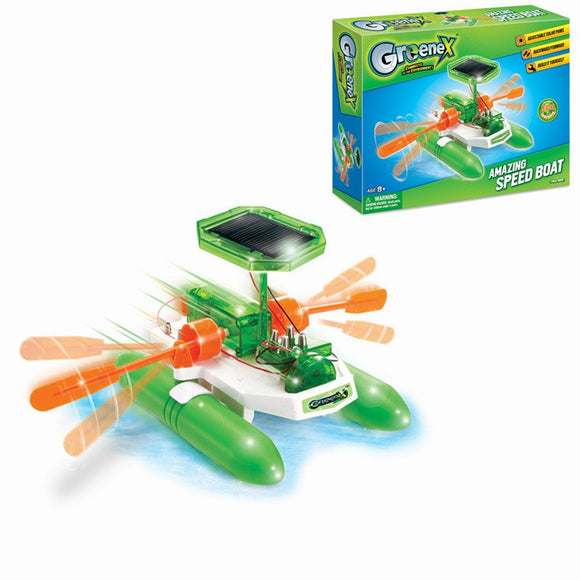Greenex 36514 Solar Power Toy Amazing Speed Boat Science Experience Toy
