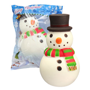 Christmas Hat Snowman Squishy 15.8*8.8*9.2CM Soft Slow Rising With Packaging Collection Gift Toy