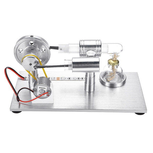 Stirling Engine Model External Combustion Model Toy With LED Light