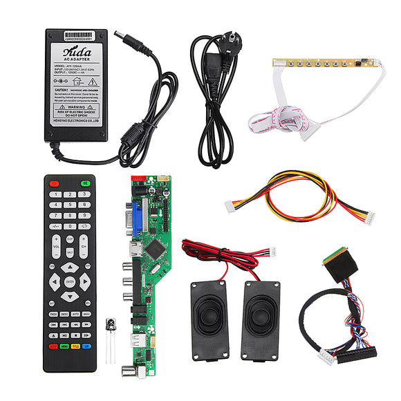 T.RD8503.03 Universal LED TV Controller LCD Driver Board Complete Kit 1CH 6bit 40Pins