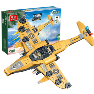 BanBao Fighter Blocks Toys Plane Model Educational Building Bricks Toys