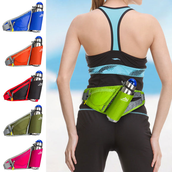Outdoor Sports Running Waist Bag Pouch with Water Bottle