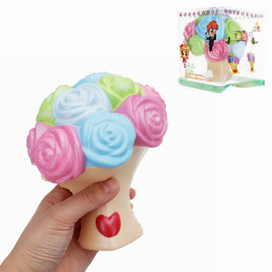 Jumbo Squishy Rose Flower 15*12cm Slow Rising Toy Mother's Day Gift