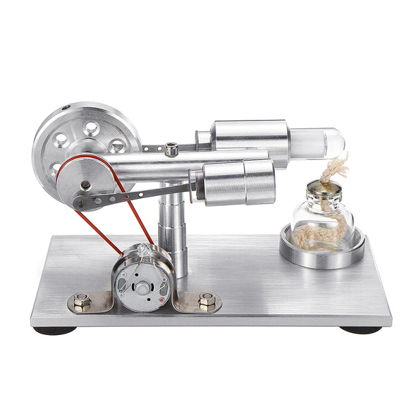 Low Noise Hot Air Stirling Engine Model With Light STEM Study Learning Supplies Collection Gift