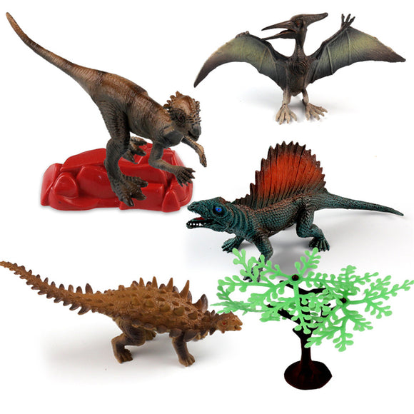 MoFun 4PCS Dinosaur Model Toy Jurassic 7 Diecast Model Doll Gift Decor Action Figure