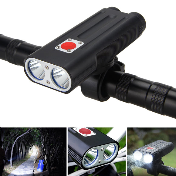 XANES DL02 1200LM 2T6 Bike Light 7 Modes Warning Light IPX5 Waterproof