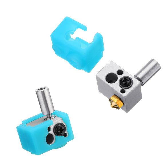 Low/High Temperature 3D Printer Heating Block+Throat Hotend Kit XCR WS-V1 Water-cooled Nozzle Module