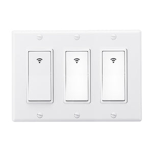 3 Gang AC 100-240V Smart WIFI Mechanical Switch Wall Panel Mobile APP Remote Control Socket