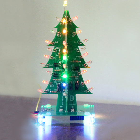 Geekcreit Assembled Christmas Tree Colorful LED Flash Module 3D LED Flash Light