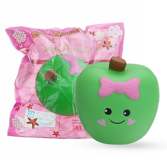 Cute Expression Apple Squishy 10*11*7CM Slow Rising Soft Toy Gift Collection With Packaging