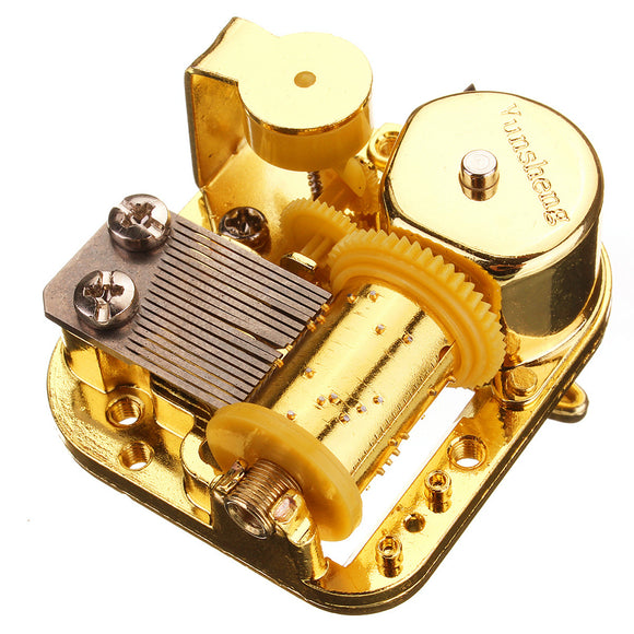 18 Note Mechanical DIY Windup Music Box Movement With Screws Key