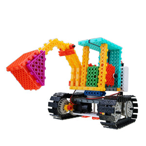 HIQ B717 Electric Block Excavator 123PCS Blocks Toys Building Educational Bricks