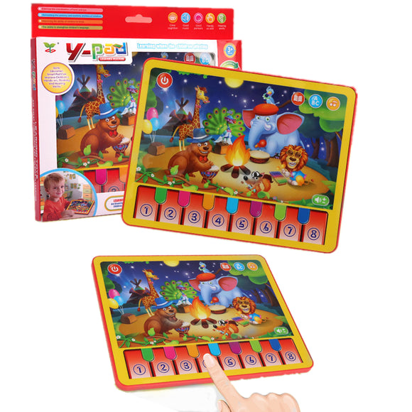 MoFun 2602A Ipad Learning Machine 24CM Animals Concert Early Educational Toys Teaching Aids