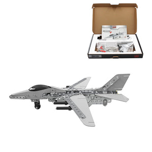 MoFun 3D Metal Puzzle Model Building Stainless Steel Aircraft Fighter Plane 470PCS