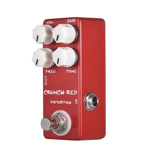 MOSKY CRUNCH RED Distortion Guitar Effects Pedal Full Metal Shell True Bypass