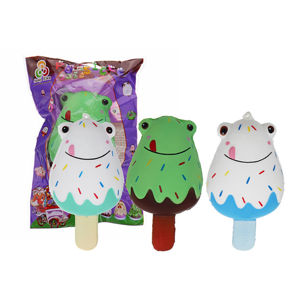 Sanqi Elan Frog Popsicle Ice-lolly Squishy 12*6CM Licensed Slow Rising Soft Toy With Packaging