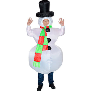 Inflatable Toys Christmas Costume White Snowman Stag Night Party Suit
