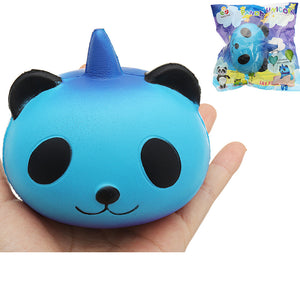 Sanqi Elan Galaxy Panda Unicorn Squishy 9.5*9*7.5cm Slow Rising With Packaging Collection Soft Toy