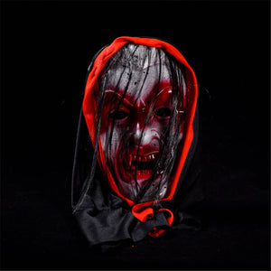 Halloween Supply Ghost Face Masks With Hair Vampire Horrible Mask