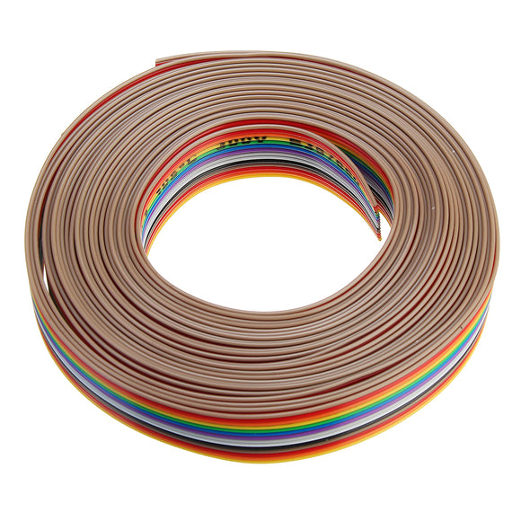 5M 1.27mm Pitch Ribbon Cable 14P Flat Color Rainbow Ribbon Cable Wire Rainbow Cable