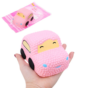 Squishy Car Racer Pink Cake Soft Slow Rising Toy Scented Squeeze Bread