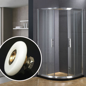 25mm 27mm Shower Glass Door Single Bottom Wheels Bathroom Sliding Rollers Runners Hardware