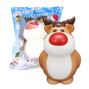 Cooland Christmas Reindeer Squishy 14.28.49.2CM Soft Slow Rising With Packaging Collection Gift