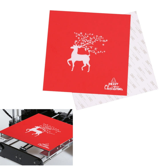 220*220mm Christmas Series Heated Bed Sticker For Creality Ender-3 Wanhao i3 3D Printer Parts