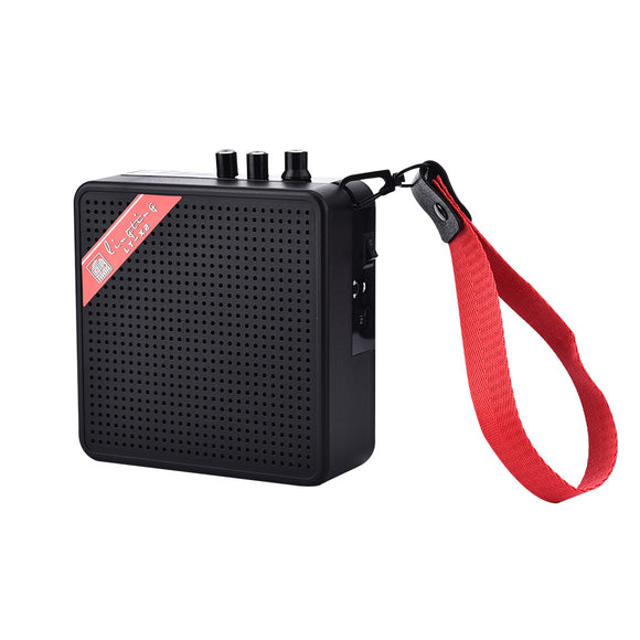 Mini 5W 9V Battery Rechargeable Portable Guitar Bass Amp Amplifier Speaker