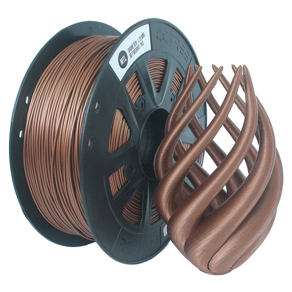 CCTREE 1.75mm  1KG/Roll Metal Bronze/Copper Filled Filament