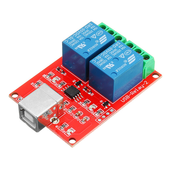 Free Drive UBS Control Switch 2 Way 5V Relay Module Computer Control Switch PC Intelligent Control