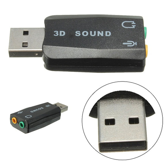 External USB 2.0 for 3D Virtual Audio Sound Card Adapter Converter 5.1CH