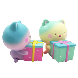 Gift Box Cat Squishy 11*13.5CM Slow Rising Soft With Packaging Collection Gift Toy