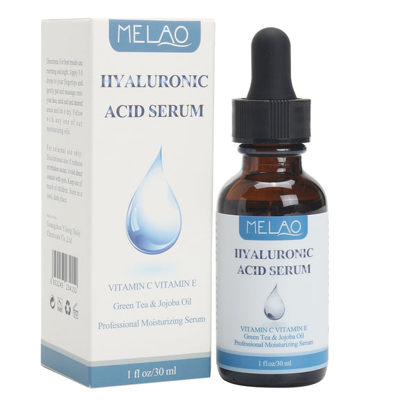 Melao Hyaluronic Acid Serum Essence Vitamin C Anti Aging Hydration Moisturizing Wrinkle Repairs