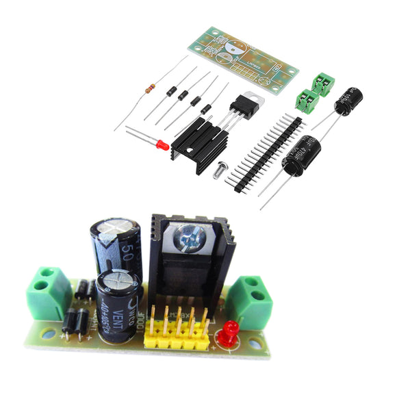 3pcs DIY LM7809 Three Terminal Regulator Module 5V Voltage Regulator Module Kit