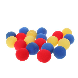 20 PCS Close Up Magic Street Trick Soft Sponge Ball Props Clown Nose