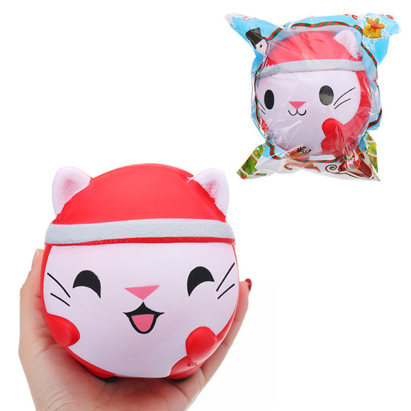 Chameleon Christmas Cat Doll Squishy 12x10x10cm Slow Rising With Packaging Collection Gift Soft Toy