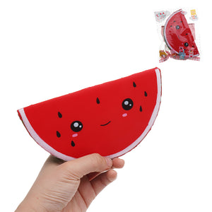 Watermelon Squishy 16*8*5CM Fruit Slow Rising Soft Toy Gift Collection With Packaging