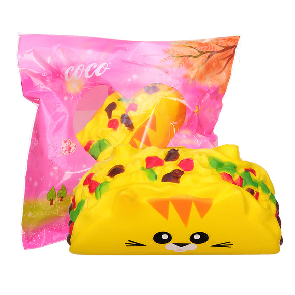 Cat Vegetable Roll Squishy 11.8CM Jumbo Slow Rising Soft Toy Gift Collection With Packaging