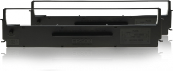 Epson s015614 black ribbon - twin pack - for epson LX300, 400, 800, 850, FX80, 85, 800, 850, 870, 880