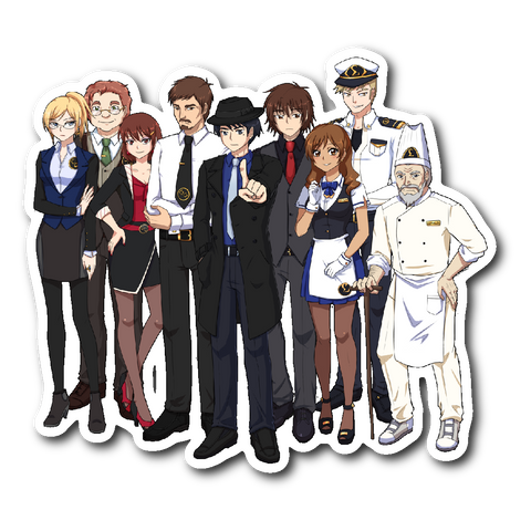 Detective Butler Full Cast Sticker