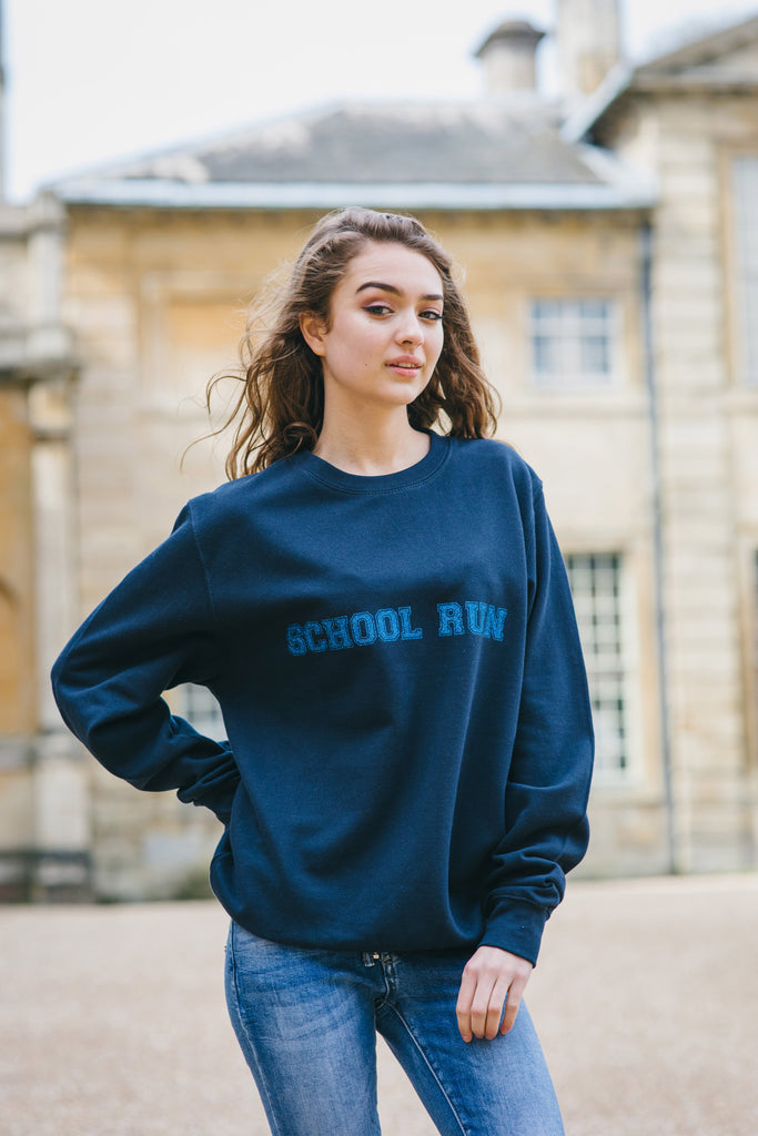 School Run Slogan Sweat