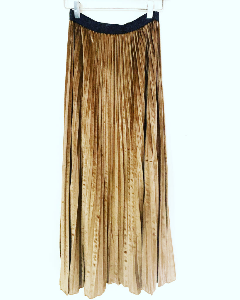 Charis Pleated Skirt Gold