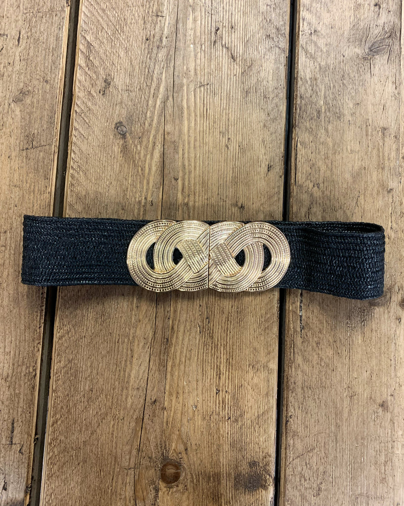 Belt Gold Loops Black