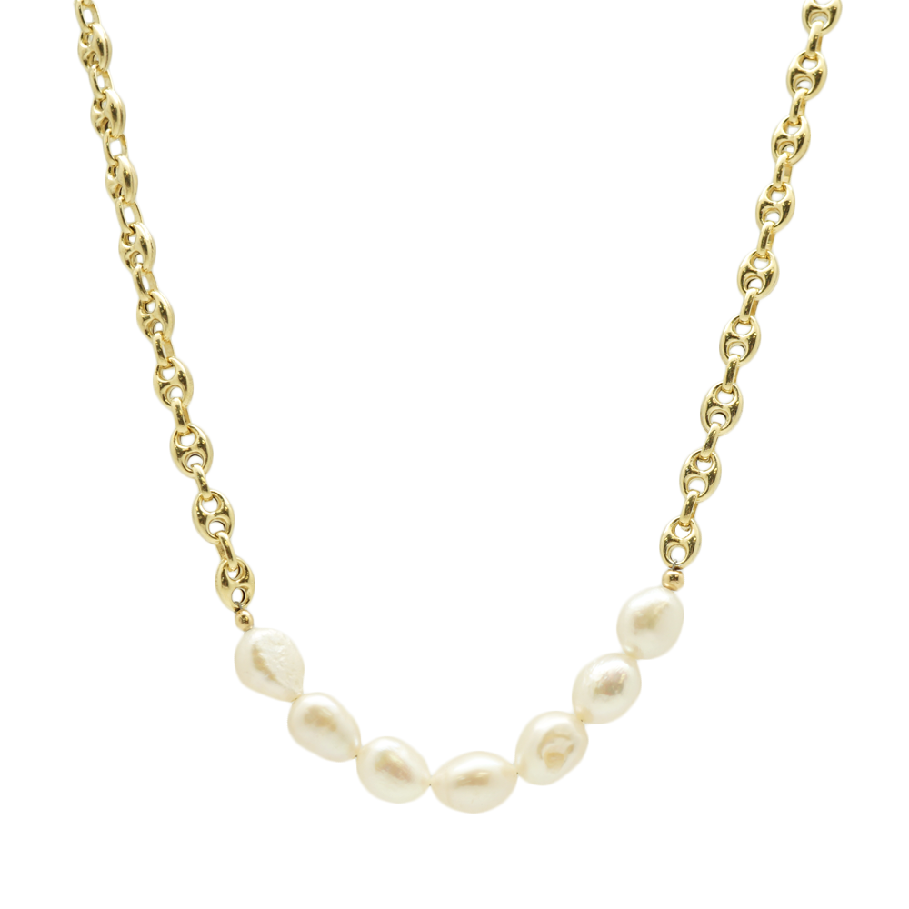 Link Pearl Necklace