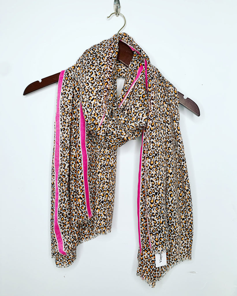 Neon Leopard Scarf Orange
